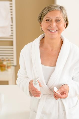 reife Haut und Pflege