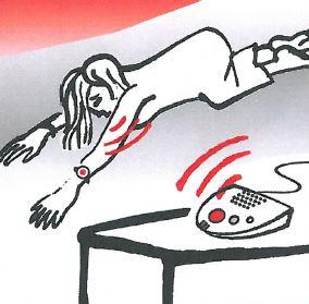 V tísňové situaci pomůže SOS náramek, která aktivuje při zmáčknutí telefonní hovor