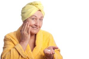 beautiful skin in old age
