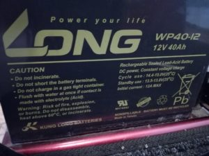 baterie LONG WP40-12